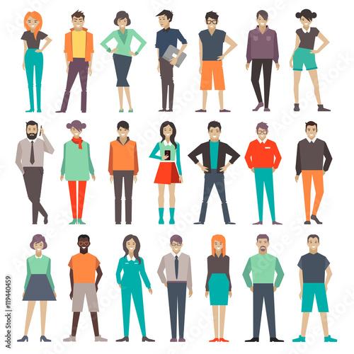 Fotografía  people. set. characters. illustration.