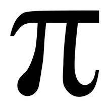 Pi Symbol Vector Icon.