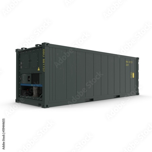ISO Refrigerated Container isolated on white 3D Illustration ...