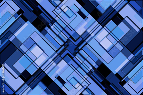 Blue Block Background Canvas Print