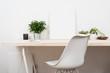 Leinwanddruck Bild - Scandinavian style startup work space