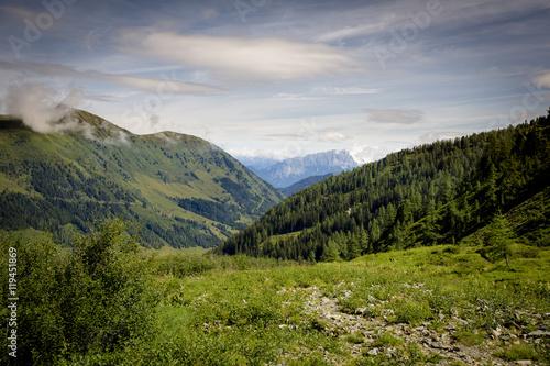 Foto auf Gartenposter Hugel The Green Hills of the Alps