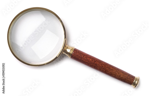 Fotografie, Tablou  Magnifying glass isolated on white background
