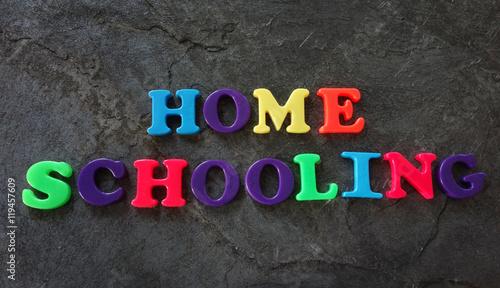 Valokuva  Home Schooling letters