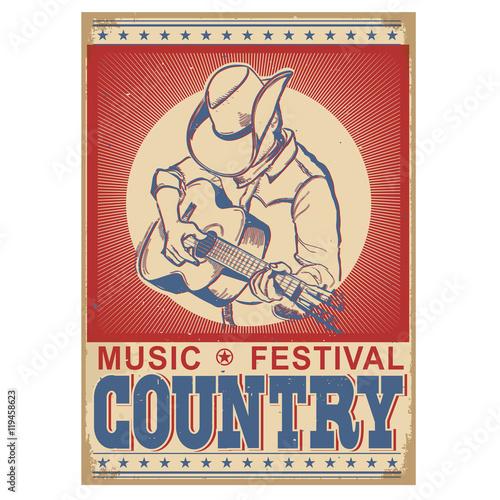 tło festiwalu muzyki z muzykiem gra na gitarze.