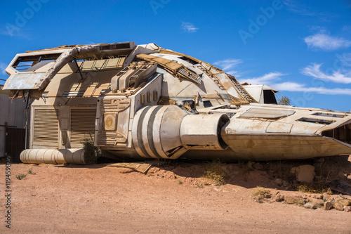 Türaufkleber UFO Spaceship in the desert, Coober Pedy, Australia