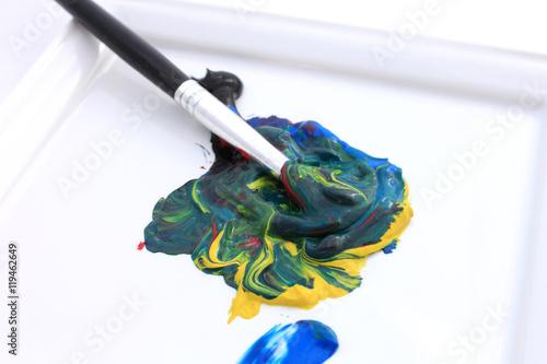mélange de peinture Canvas Print
