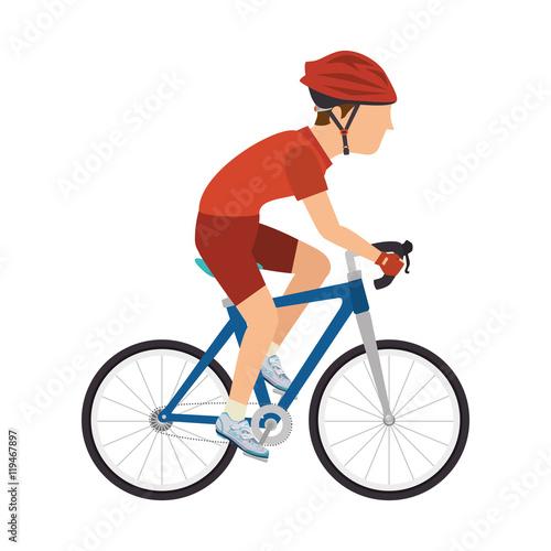 Fotografie, Obraz  cyclist man riding sport bike