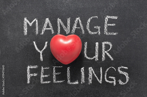 Fotografia  manage your feelings heart