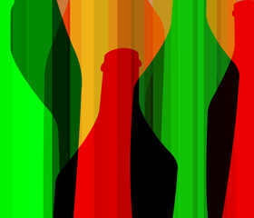 Fototapeta Wino Wine List Design vector