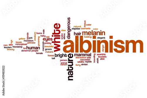 Albinism word cloud Canvas-taulu