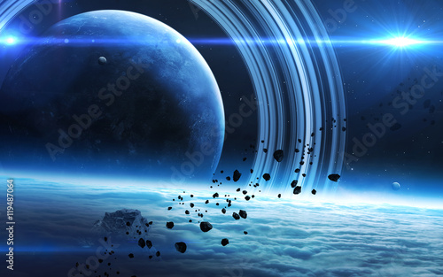 Infinite space background with nebulas and stars Wallpaper Mural
