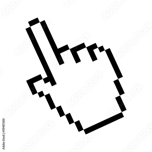 Fotomural  cursor pointer mouse click hand direction selection vector illustration