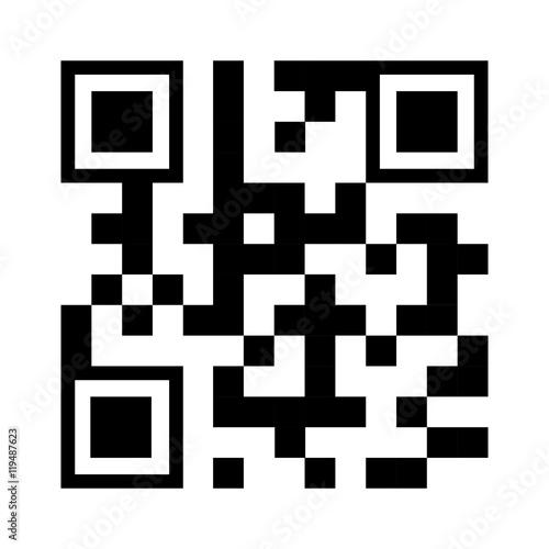 qr quick response code black squares barcode technology
