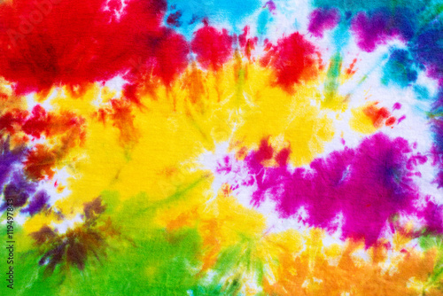 Fotografie, Obraz  colourful tie dye pattern abstract background.
