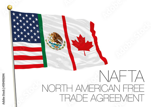 Nafta North American Free Trade Agreement Flag Buy This Stock