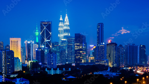 Photo Stands Kuala Lumpur Singapore at sunset