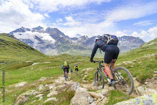 Fotografia, Obraz Downhill vor herrlicher Hochgebirgskulisse