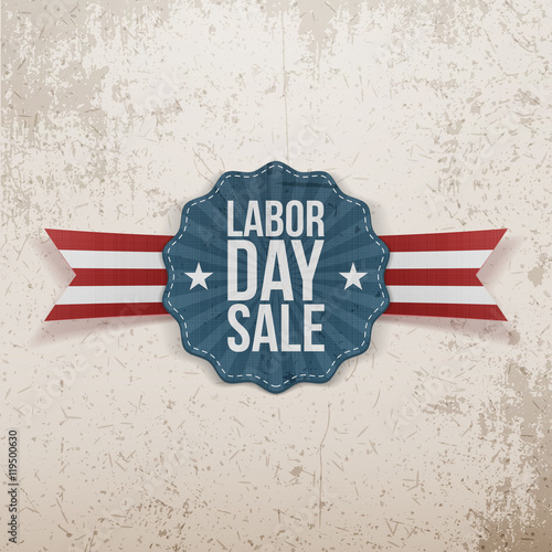 label template with labor day sale text buy this stock vector and