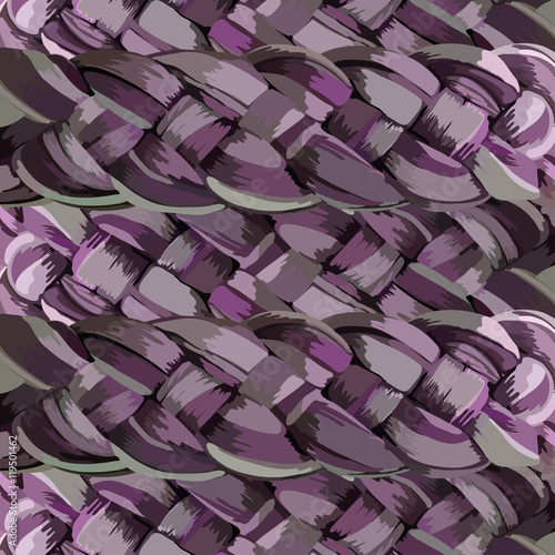 Fotografia, Obraz  abstract background with braids. Vector illustration EPS 10