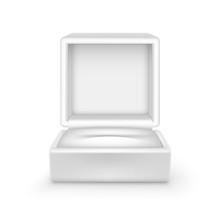 Vector Empty White Velvet Opened Gift Jewelry Box On Background