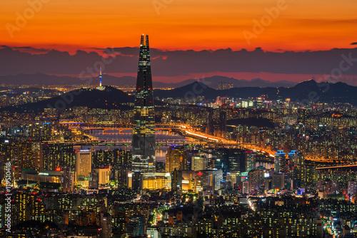 Zdjęcie XXL Seoul City Skyline, najlepszy widok z Korei Południowej.