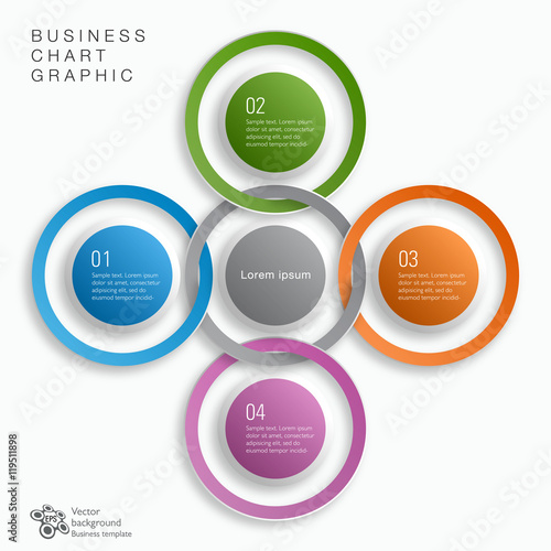 Fotografie, Obraz  Business Flow Chart #Vector Graphic