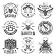 Gangster Black White Emblems