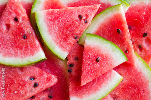 Slices of watermelon background Canvas Print