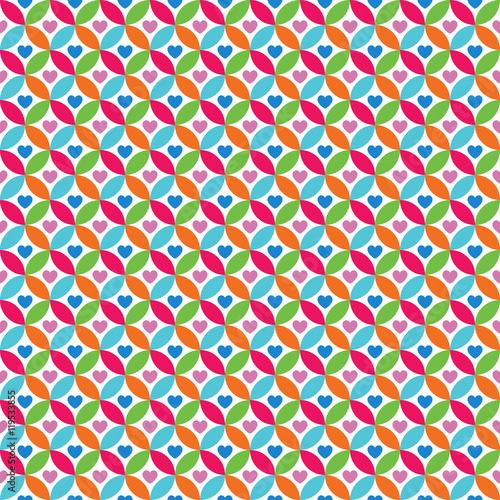 Foto auf AluDibond Boho-Stil Bright colorful seamless pattern for baby style