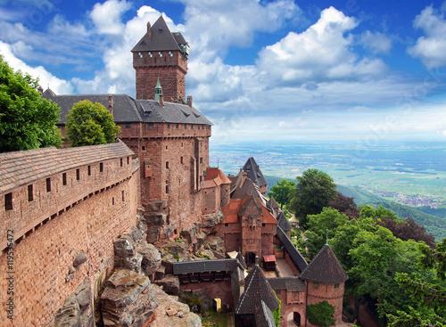 Crédence de cuisine en verre imprimé Chateau Château du Haut-Koenigsbourg