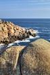 Beautiful landscape on rocky shore