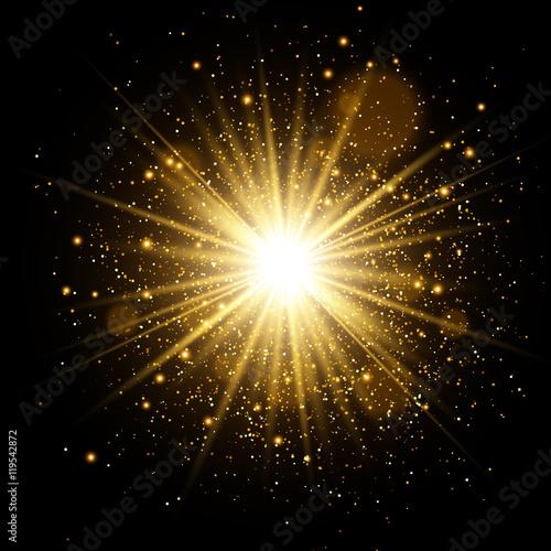 Foto  Goldener Glow-Lichteffekt