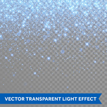 Vector Neon Blue Glitter Particles Background Effect