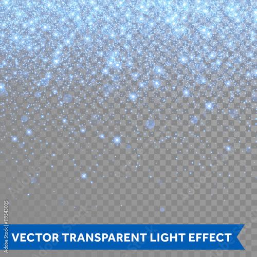 Fotografie, Obraz Vector neon blue glitter particles background effect