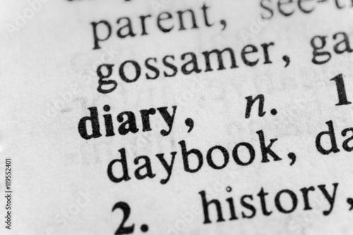 Diary Canvas Print