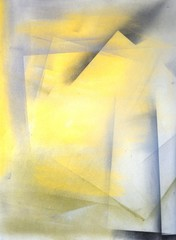 Obraz Grey and Yellow Abstract Art Painting