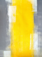 FototapetaGrey and Yellow Abstract Art Painting