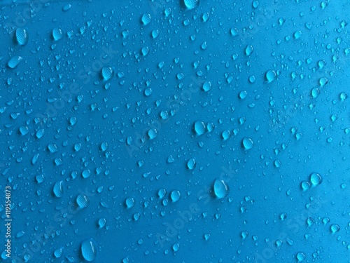 Rain Drops On Blue Shade Umbrella Background Mobile Photography