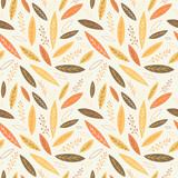 Falling autumn leaves seamless pattern - 119558047
