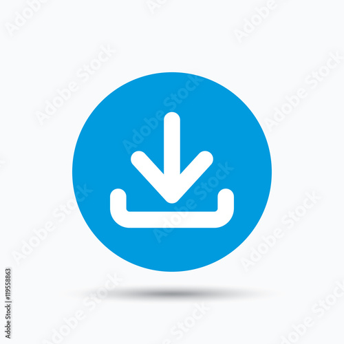 Fotomural Download icon. Load internet data sign.