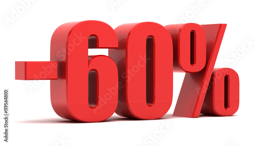 Fotografia  60 percent discount 3d text