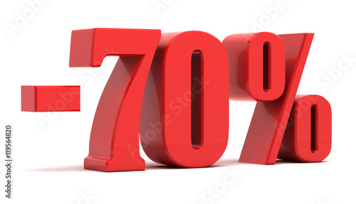 Fotografie, Obraz 70 percent discount 3d text