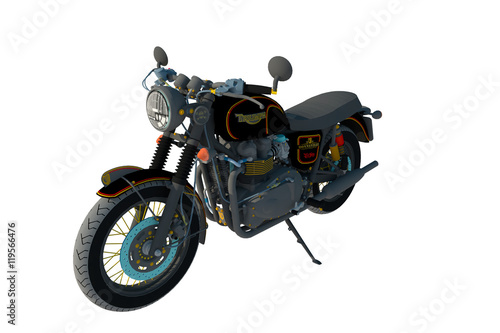 Fotobehang Fiets Motocicleta