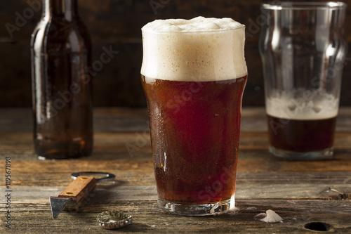 Photo  Refreshing Brown Ale Beer