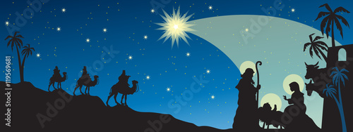 Header with Nativity Canvas-taulu