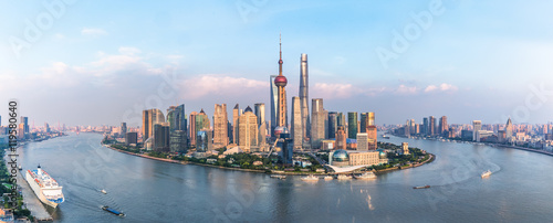 Spectacular views of the Bund,shanghai,china. Canvas Print