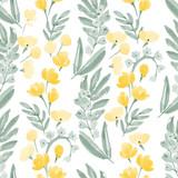 akwarela kwiaty wzór - 119584677