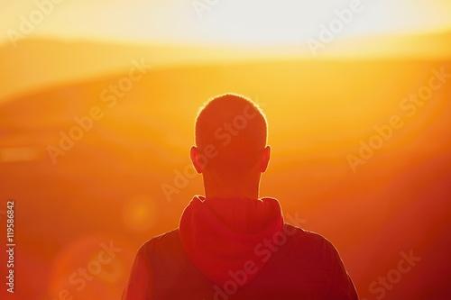 Valokuva  Stunning sunset on the mountain top.