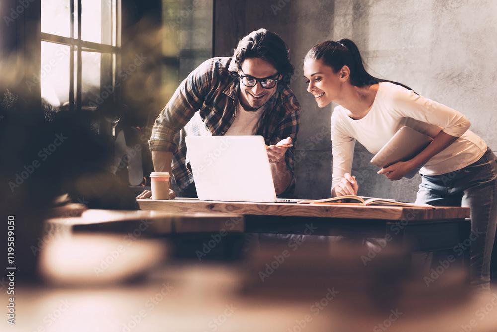 Fototapety, obrazy: Technologies making business easier.
